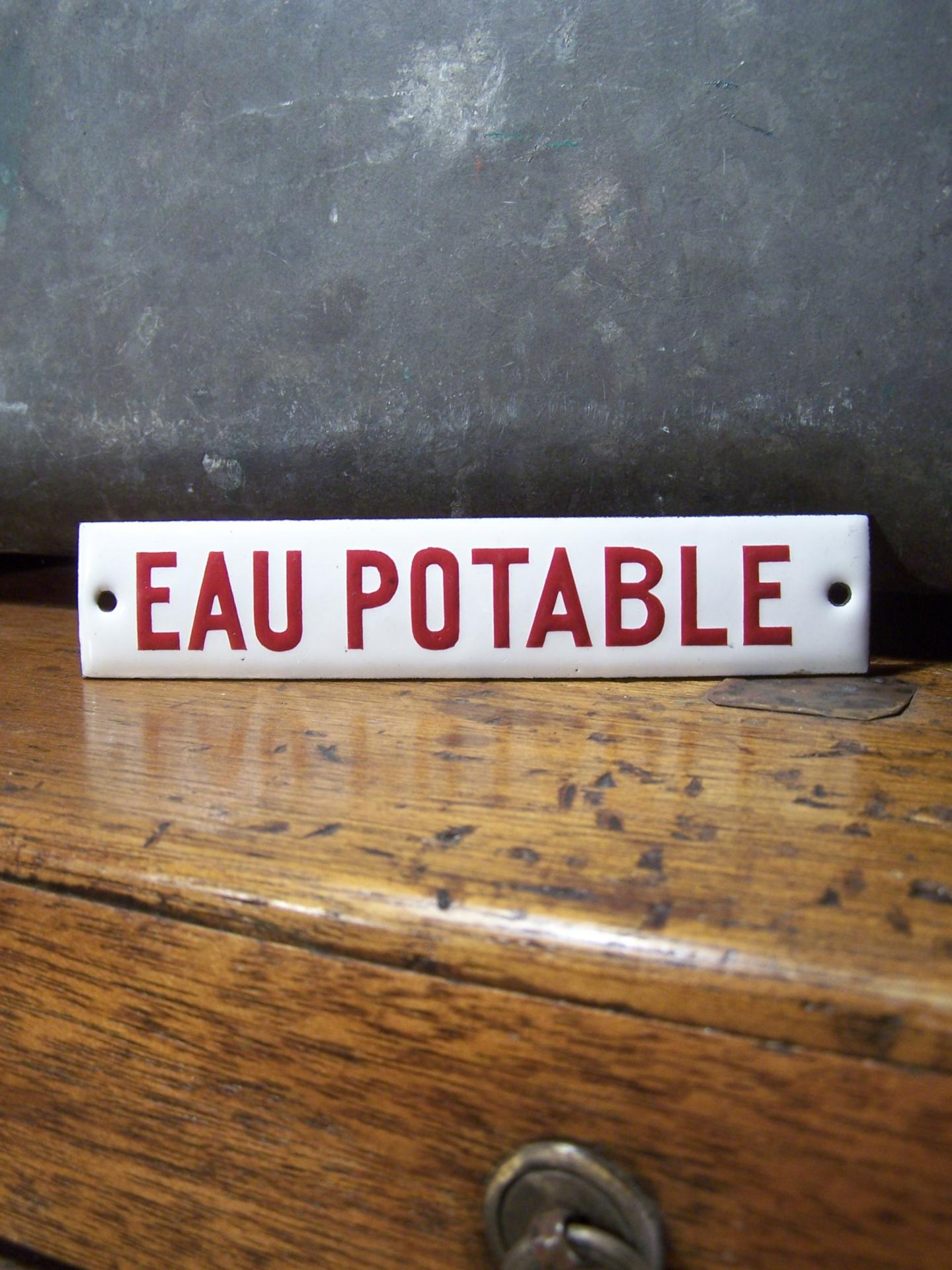 Ancienne plaque maill e d 39 usine for Plaque emaillee ancienne cuisine
