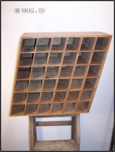 ancien meuble de rangement casier meuble de m tier indus tendance. Black Bedroom Furniture Sets. Home Design Ideas