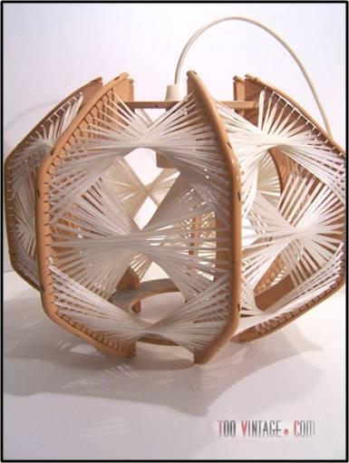 Lustre Design Bois : Lustre vintage design scandinave, suspension design, vintage