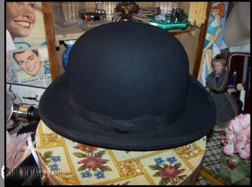 ancien chapeau haut de forme en feutre boite chapeau. Black Bedroom Furniture Sets. Home Design Ideas