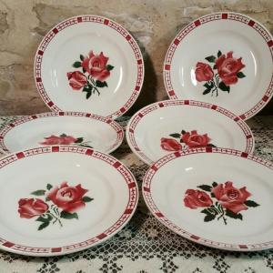 0 6 assiettes plates saverne chocs