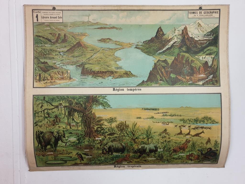 0 affiche d ecole armand colin les region