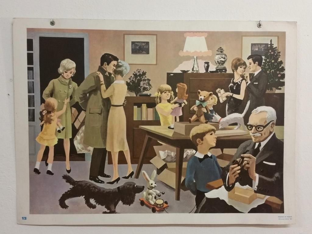 0 affiche scolaire 1967 13 et 14