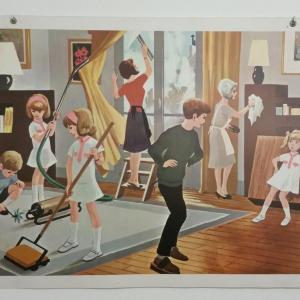 0 affiche scolaire 1967 5 et 6