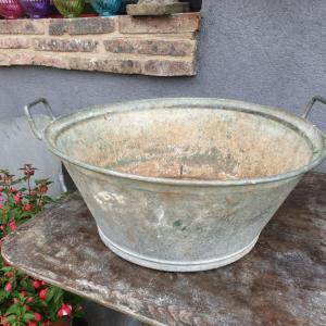 0 bassine en zinc 2 poignees