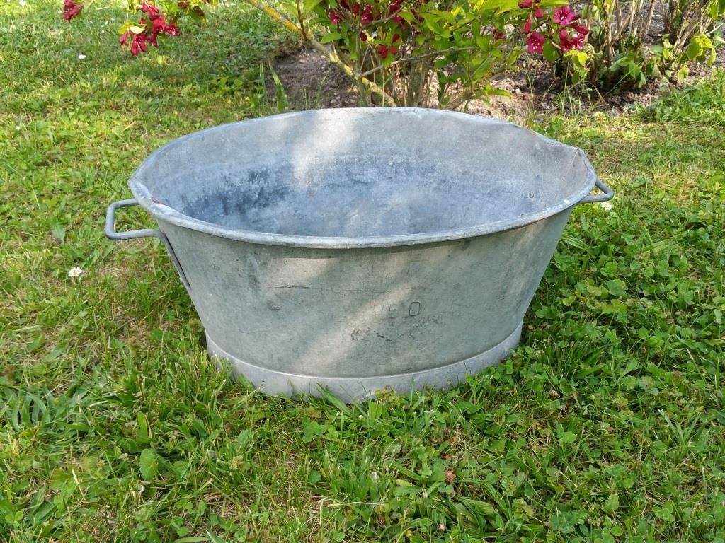 0 bassine en zinc