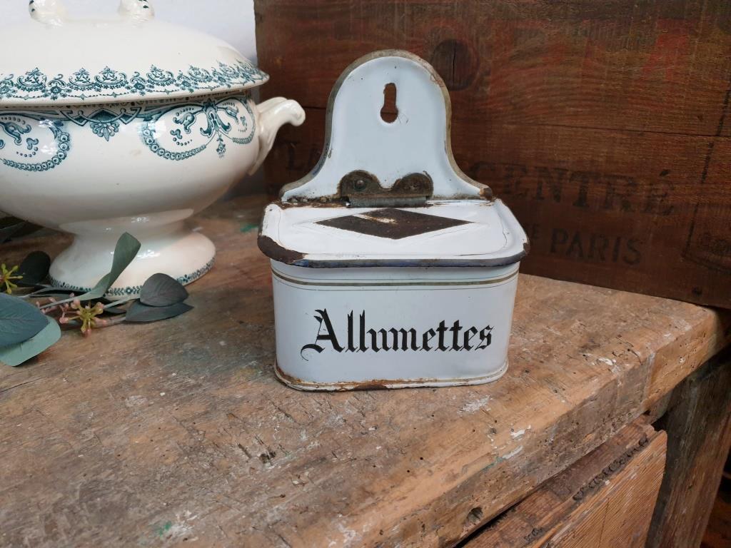 0 boite allumettes emaillee
