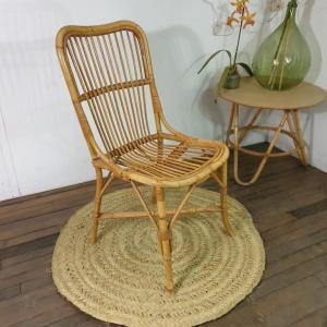0 chaise en rotin