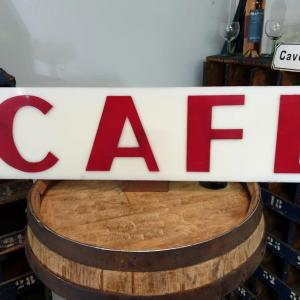 0 enseigne de cafe