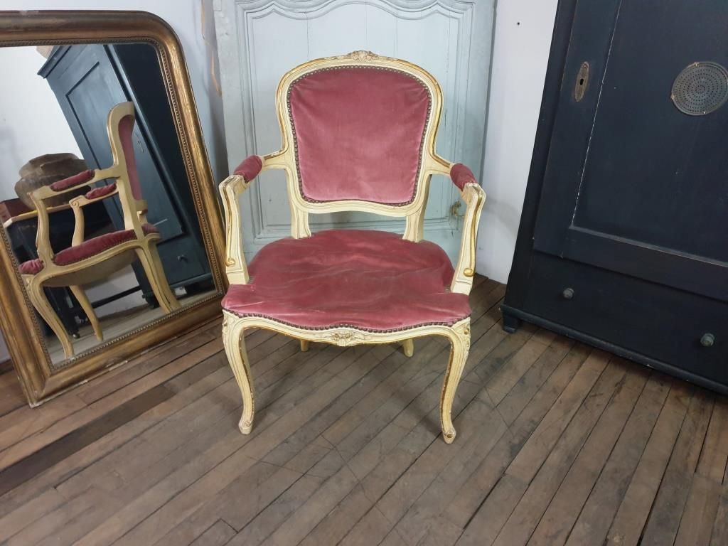 0 fauteuil louis xv