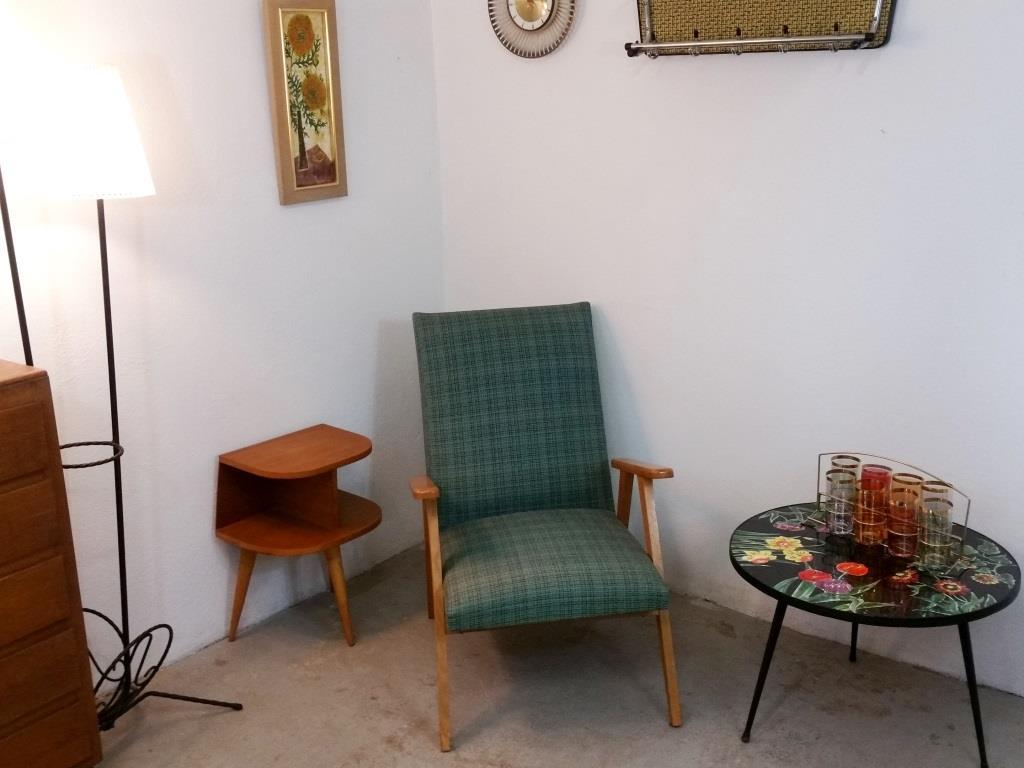 0 fauteuil scandinave vert