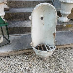 0 fontaine d angle fonte emaillee