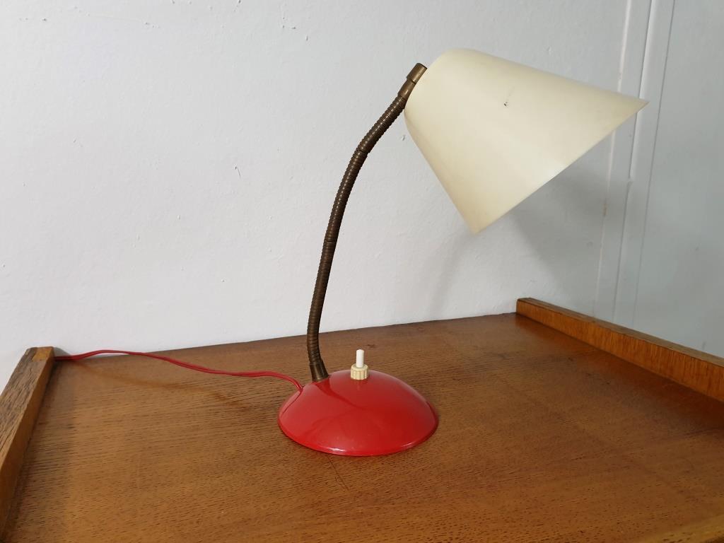 0 lampe cocotte rouge et blanche