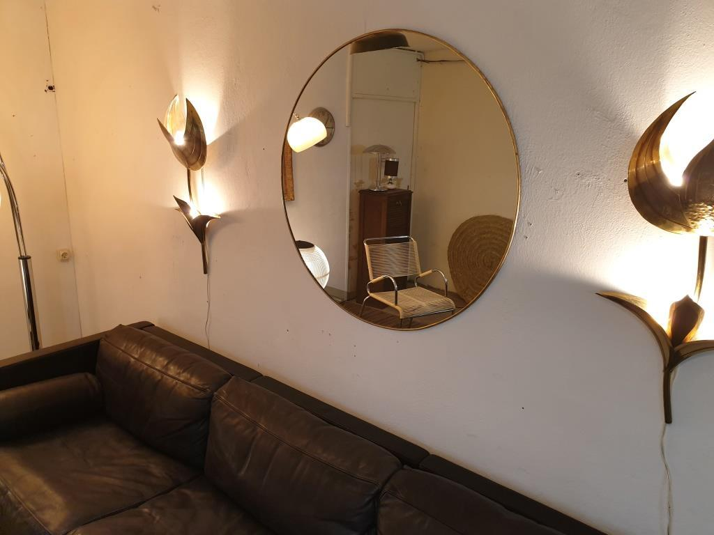 0 miroir laiton grand diametre 1 metre