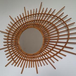 0 miroir rotin forme libre
