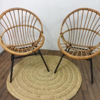 0 paire de fauteuils corbeille 4