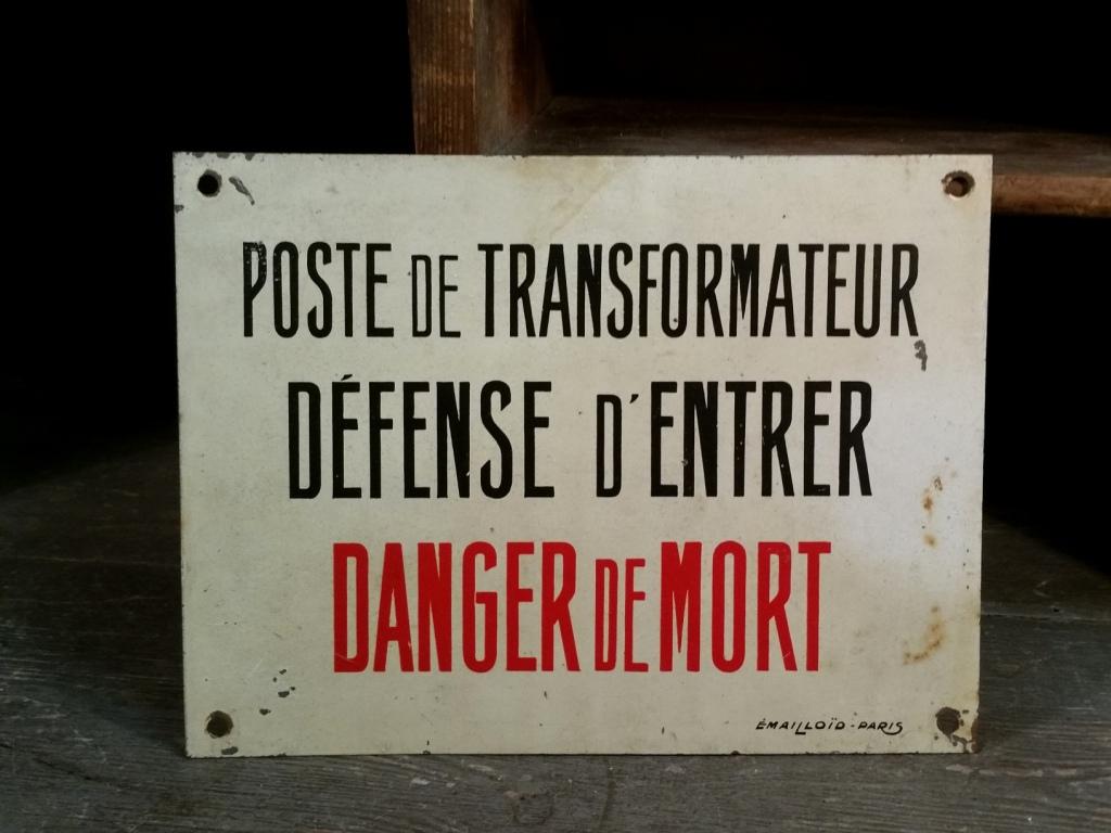 0 panneau danger de mort