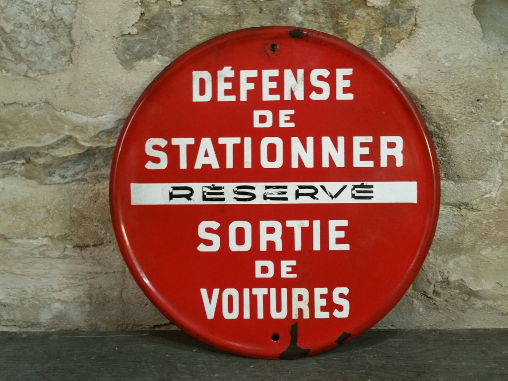 0 panneau defense de stationner