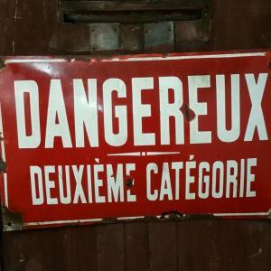 0 plaque dangeureux