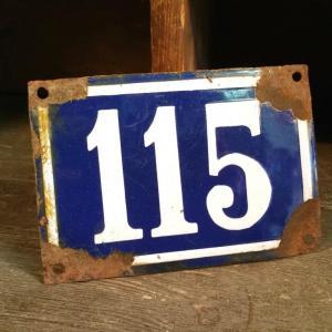 0 plaque de rue 115