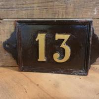 0 plaque de rue 13