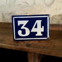 0 plaque de rue 34
