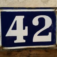 0 plaque de rue 42