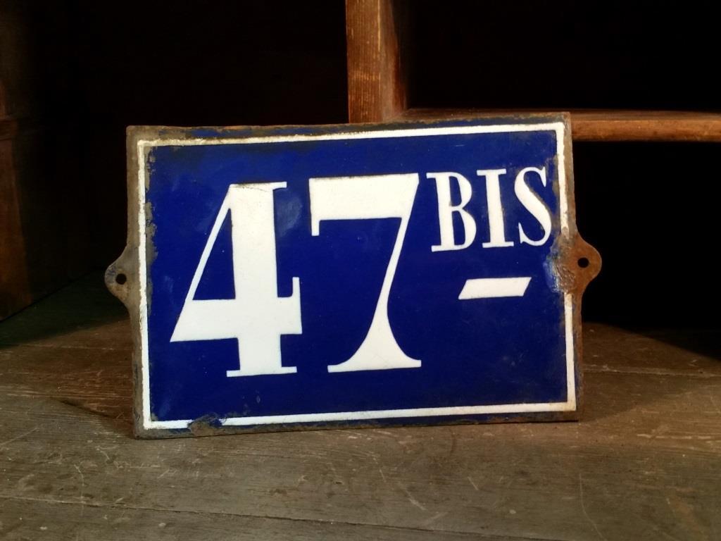0 plaque de rue 47bis