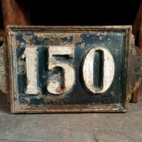 0 plaque de rue fonte 150