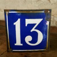 0 plaque de rue n 13