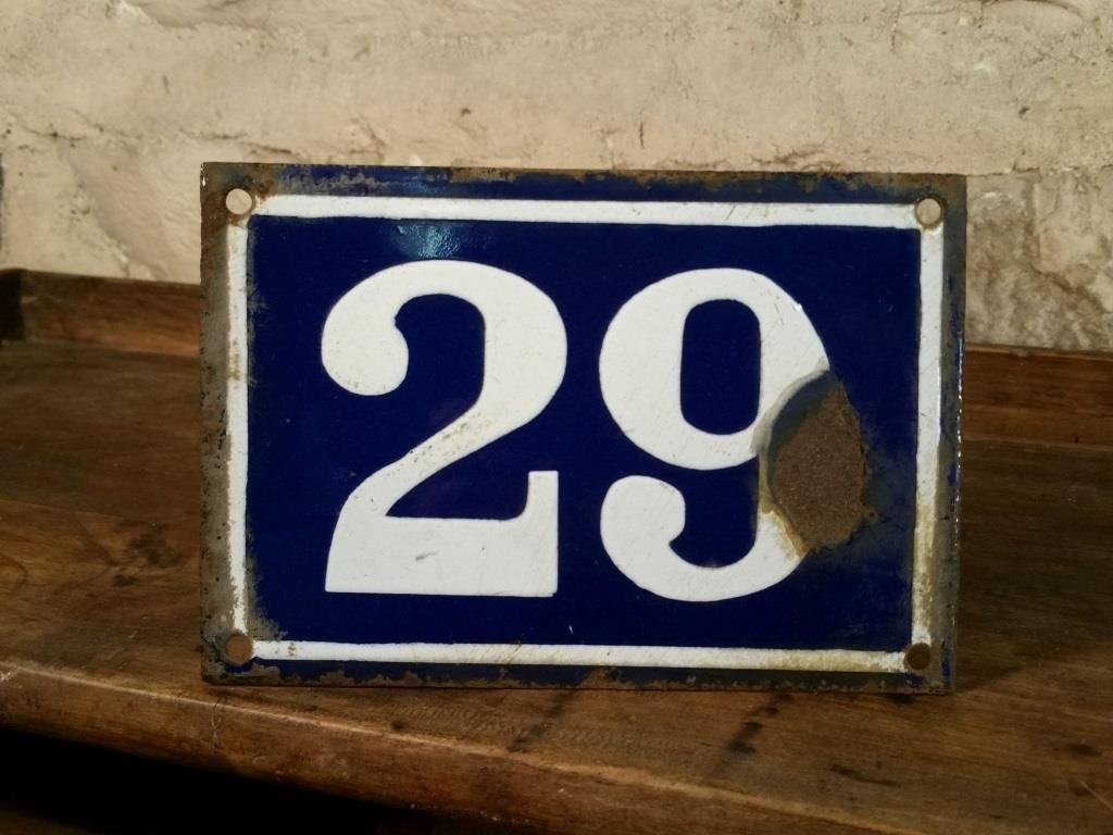 0 plaque de rue n 29
