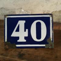 0 plaque de rue n 40