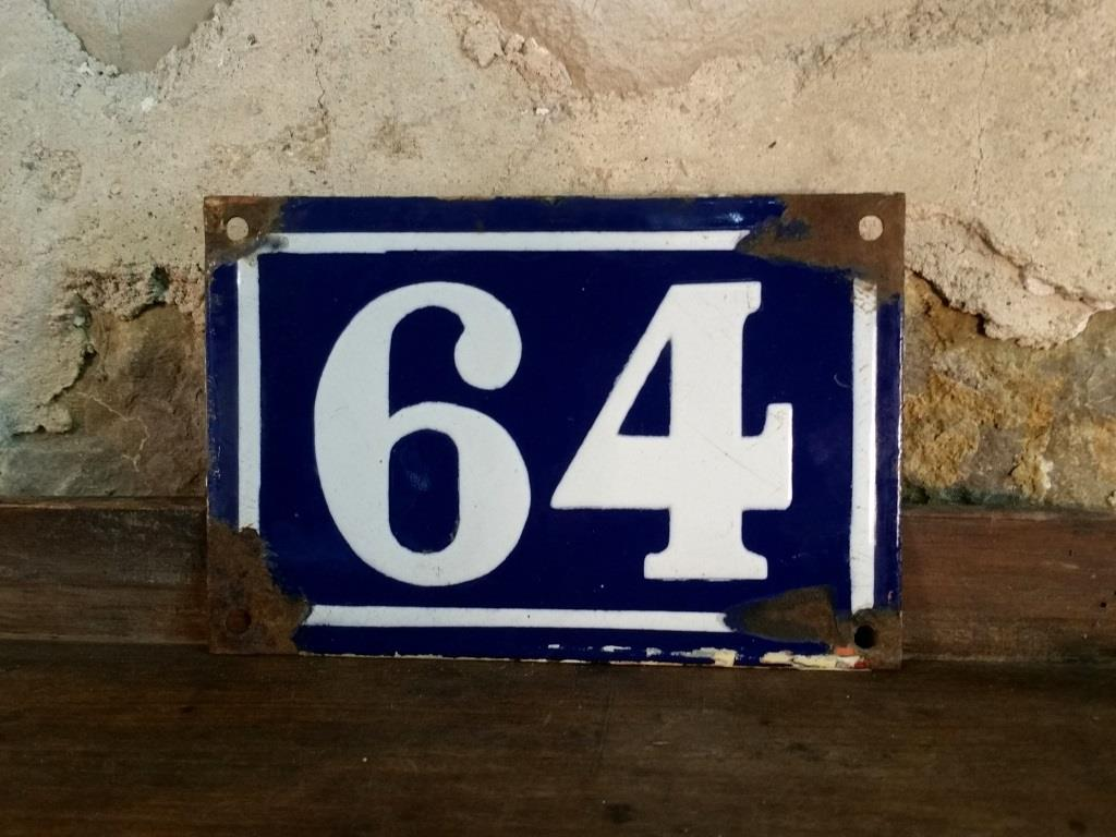0 plaque de rue n 64