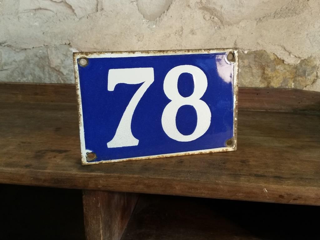 0 plaque de rue n 78