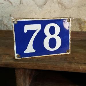 0 plaque de rue n 79