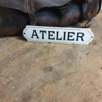 0 plaque emaillee atelier