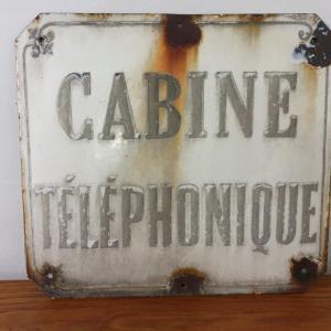 0 plaque emaillee cabine telephonique 1