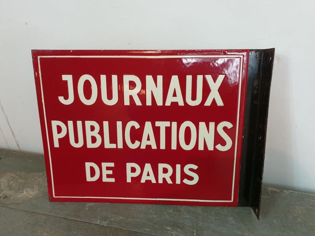 0 plaque emaillee journaux publications de paris