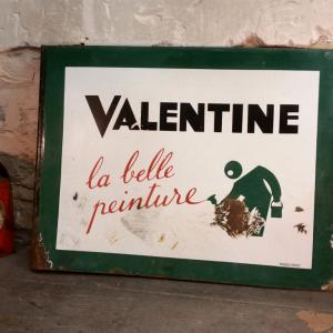 0 plaque emaillee valentine