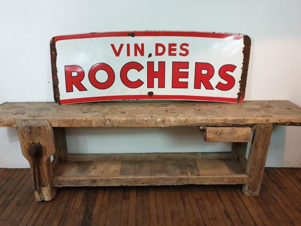 0 plaque emaillee vin des rochers