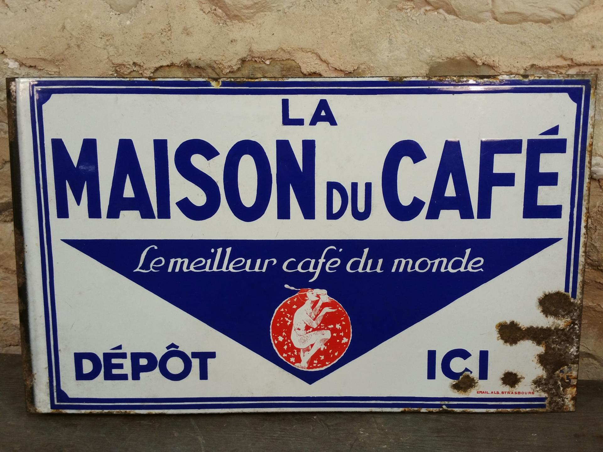 0 plaque maison du cafe
