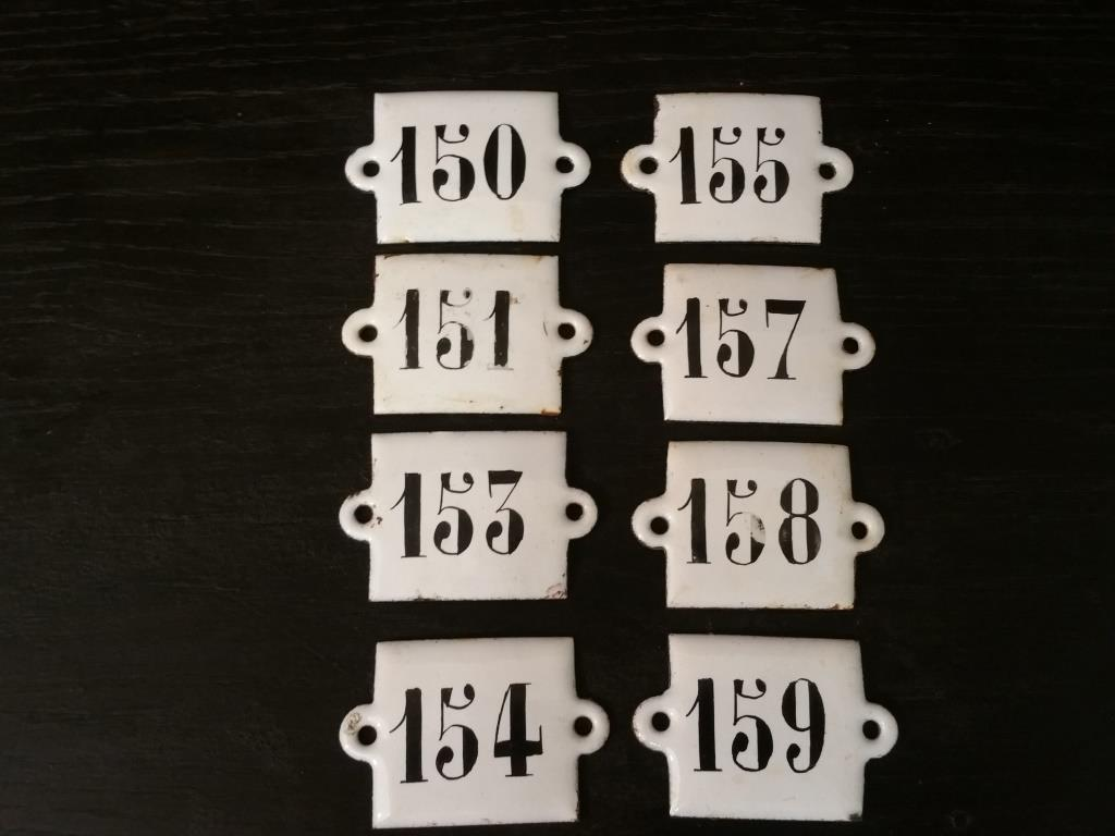 0 plaques emaillees 150
