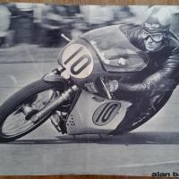 0 poster moto noir et blanc
