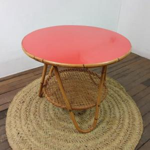 0 table basse formica rouge
