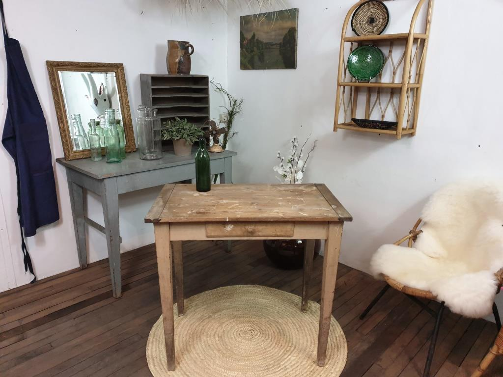 0 table d appoint bois naturel brut