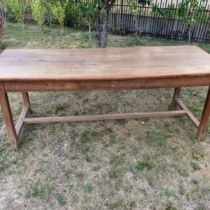 0 table de ferme avec bancs