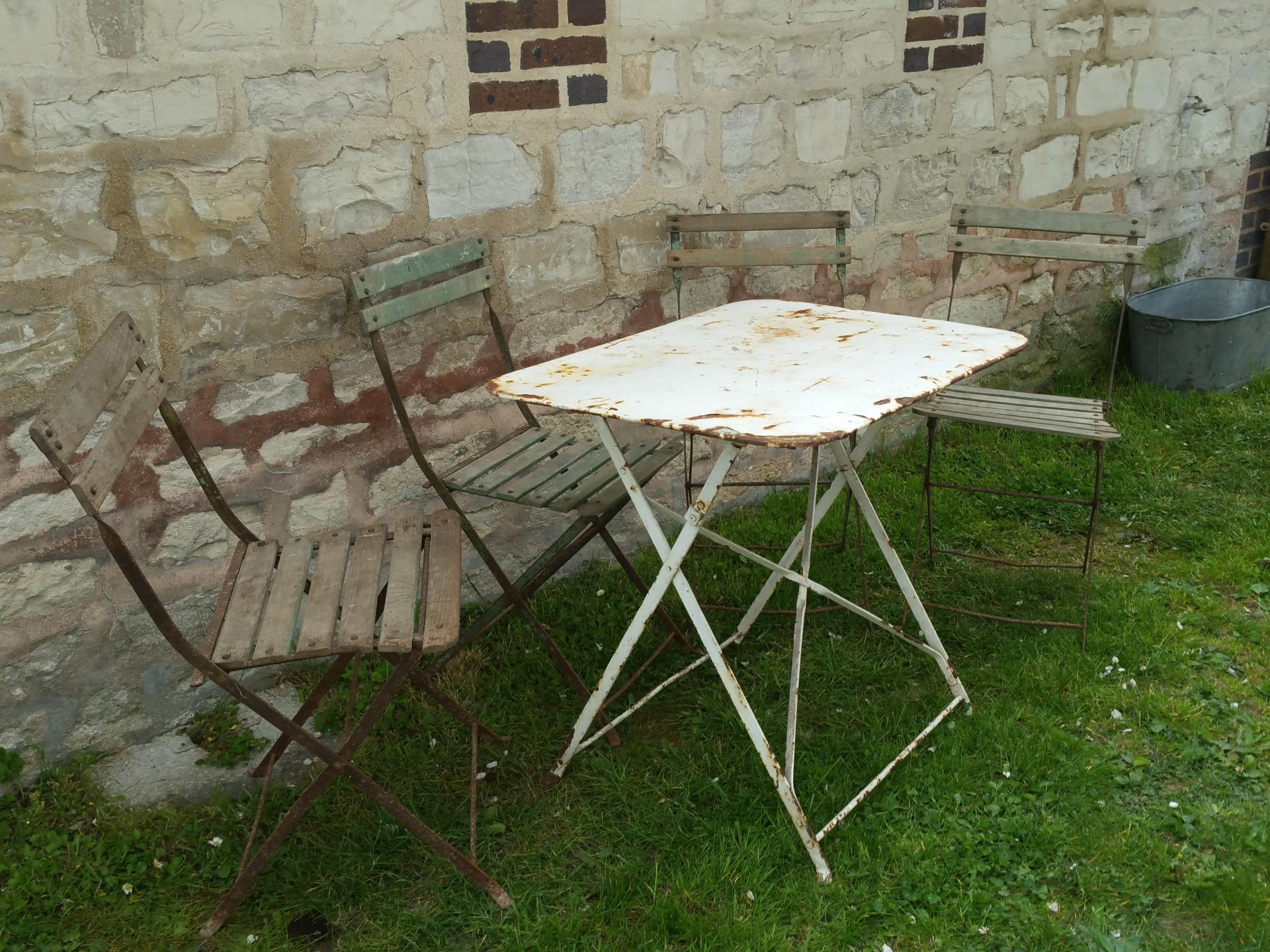 0 table de jardin