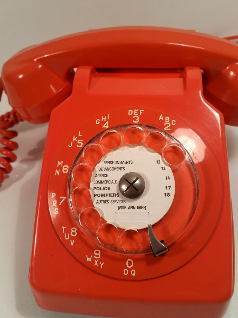 t l phone vintage socotel s63 orange design 70. Black Bedroom Furniture Sets. Home Design Ideas