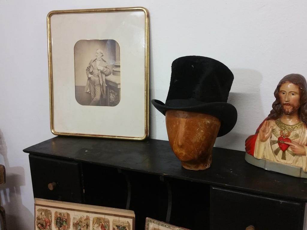 0 tete et chapeau haut de forme