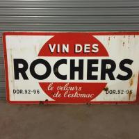 0 tres grande plaque vin des rochers